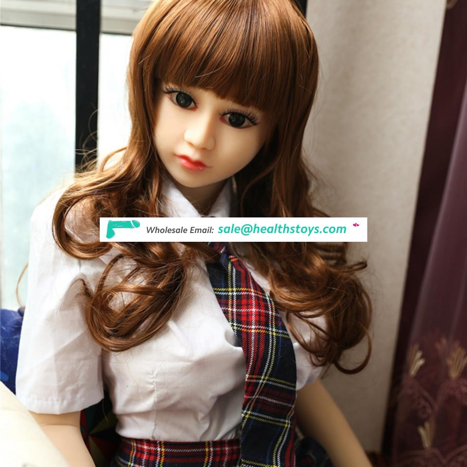 125cm 4.1FT japanese small mini little chubby small sexy  blonde girl masturbation full TPE solid silicone sex love doll