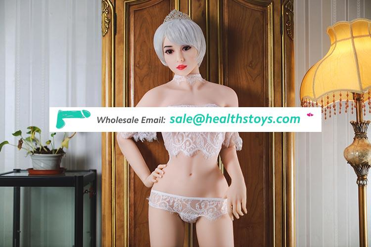 158cm Young Girl Sexy Silicon Sex Dolls For Men With Metal Skeleton 3 Holes