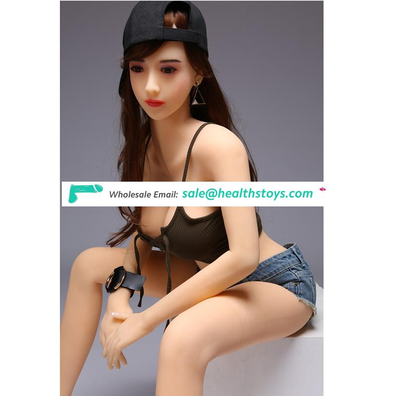 165cm 3D full body sex Toy Asian young girl small chest sex doll with Metal skeleton for Men