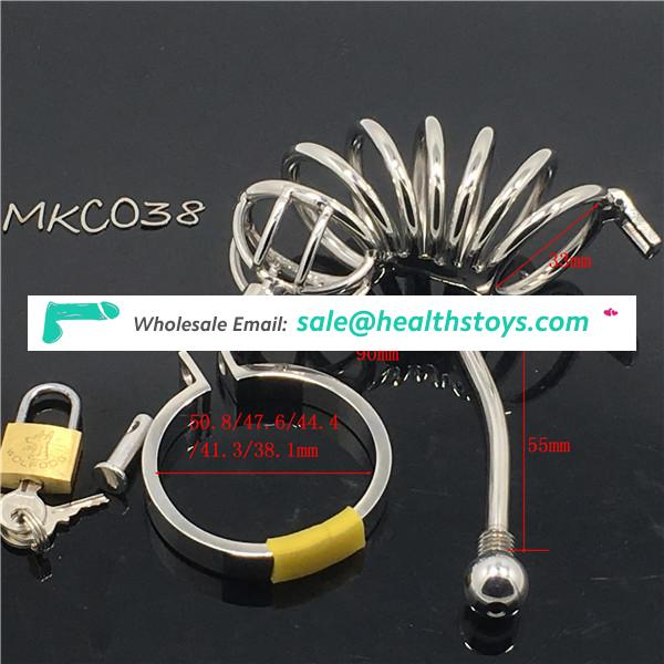 Big size adult sex toys male chastity device penis cock cage for men BDSM CBT Fetish