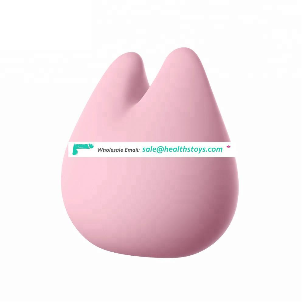 Body-safe silicone magnetically charged charging sex masturbation vibration egg for female