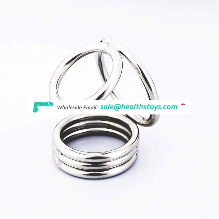 Cock cage penis sleeve masturbation toys stainless steel
