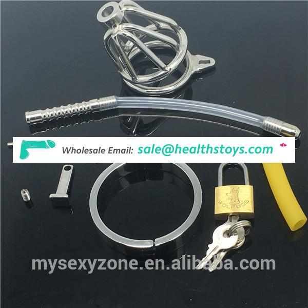 Male Cock Chastity Cage Urethral Dilators Catheter Insertion BDSM sex toys