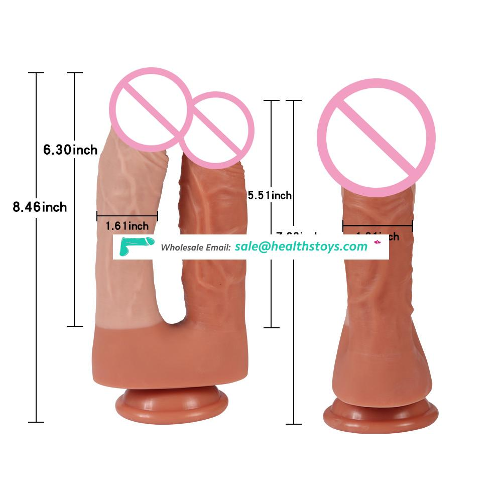 Medical Silicone Double Dildo Sex Toy for Woman