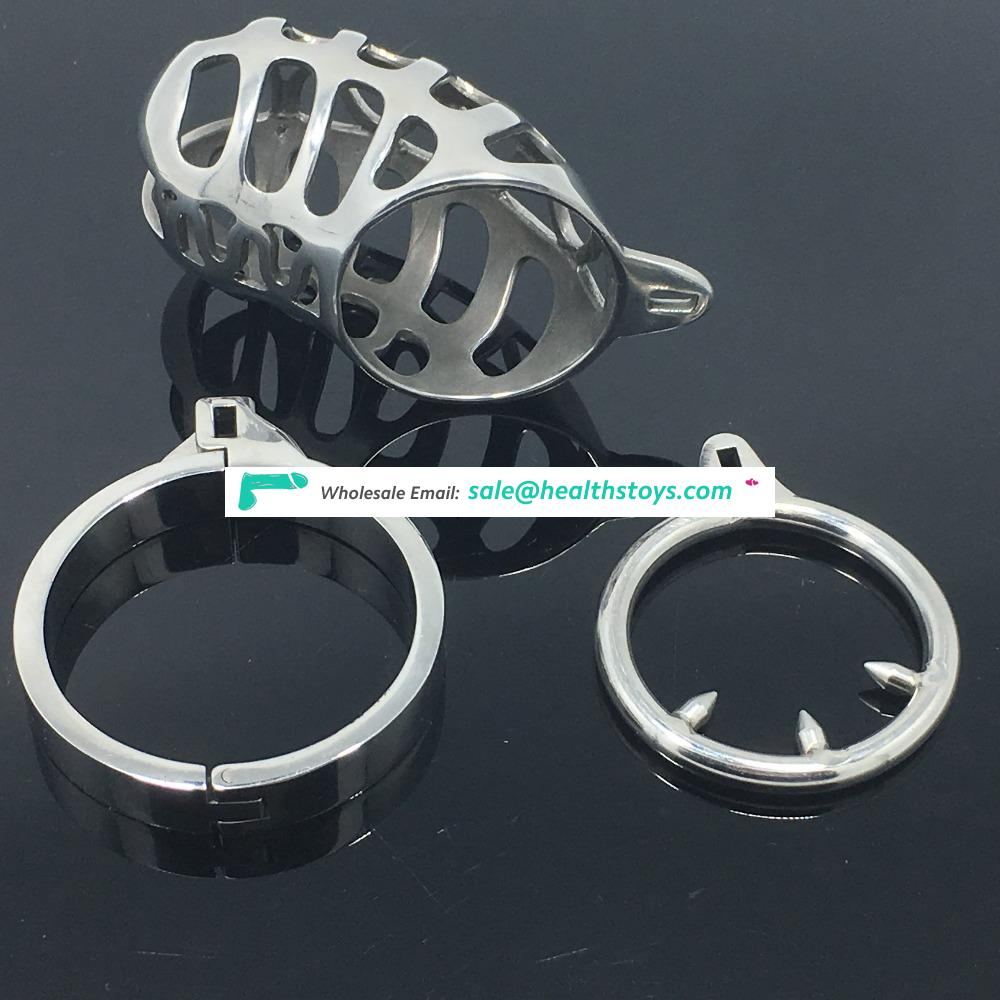 Medical Stainless Steel Small Male Chastity device Adult Cock Cage BDSM Chastity penis plug C007
