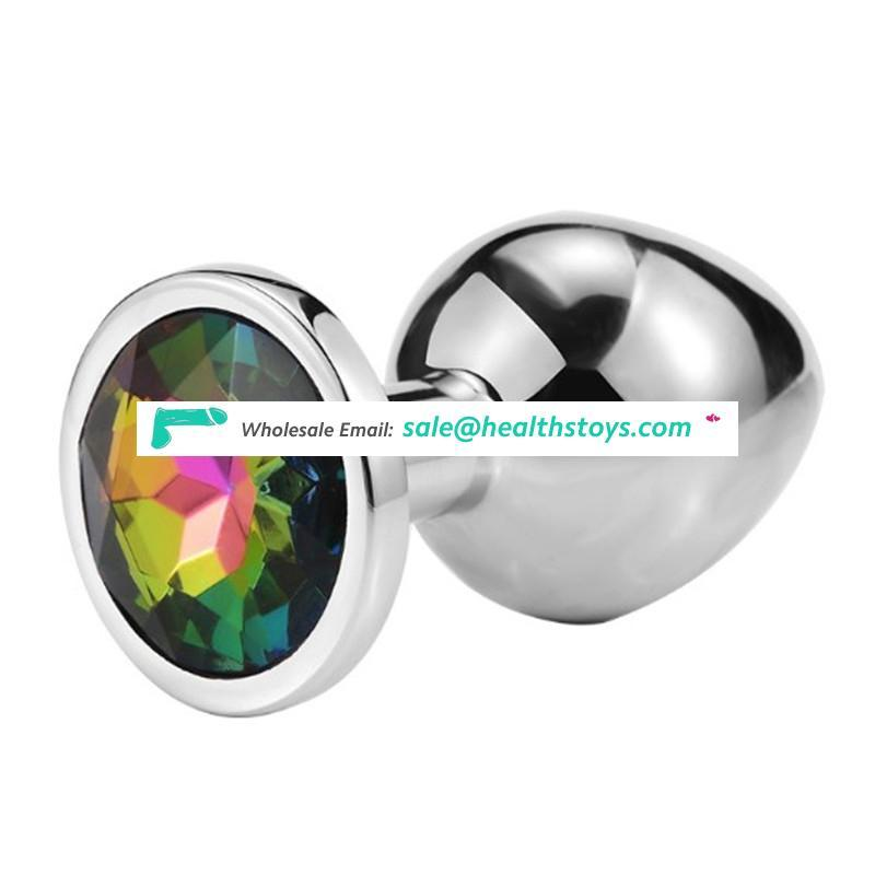 Metal Anal Butt Plug Unisex Sophisticated Sexy Anal Toys Stainless Steel Crystal Jewelry anal plug metal for adults couples
