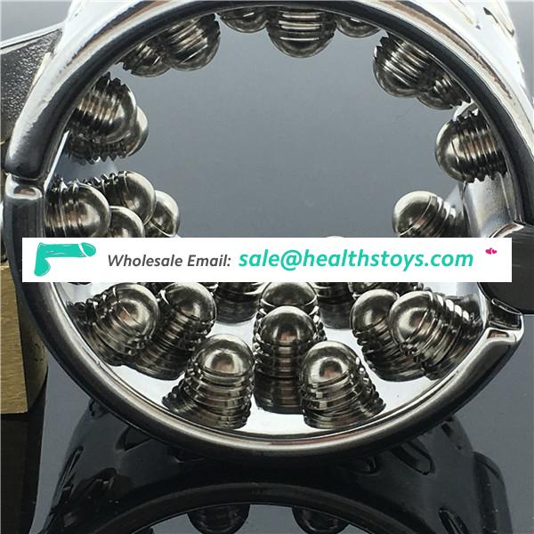 New arrival private design surgical stainless steel bondage BDSM ball stretcher kali's teeth