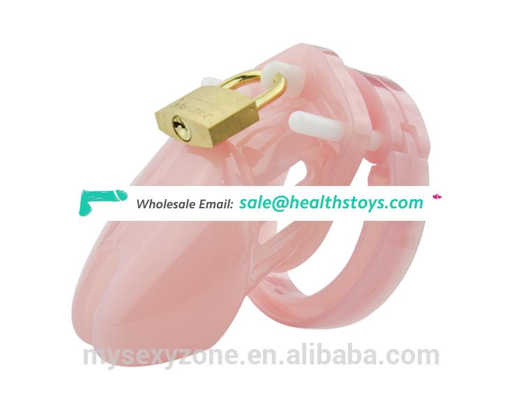 Plastic Male Chastity Device Male Cock Cage Lockable Penis Cage