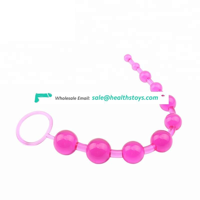 Unisex Anal bead 10 beads sex toys for woman