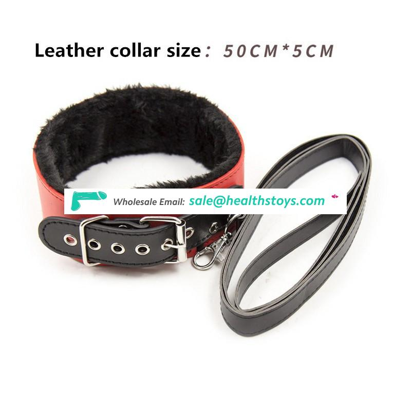Leather Bondage Set Restraints Sex for Couples Woman Slave SM Sexy Erotic Toy Handcuff adult sex toys