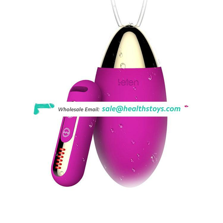 Muscle Feel Silicone Women Girl G-Spot Climax Fun Sex Toys Easy Operation Washable Remote Magic Bullet Love Vibrating Egg