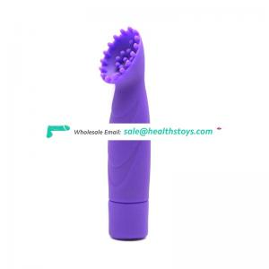 10 speeds vibration stimulate breast nipple vibrator with a brush head