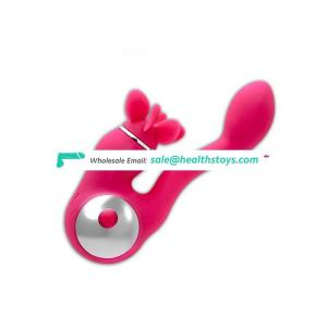 100% waterproof pink silicone vibrator toys for woman