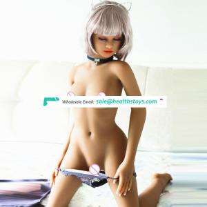 140cm TPE silicone Real young flat chest love doll for men Masturbation