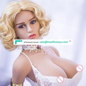 153cm Solid Silicone Sex Doll Big Boobs Big Ass Blond Hair Europe and American Sexy Girl for Men