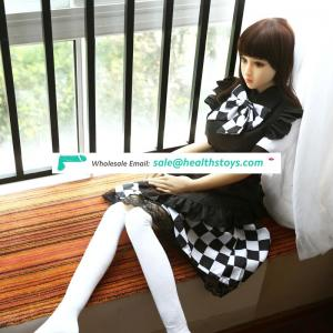 158cm 5.2FT japanese 18 young girl loli cute petite school girl medical material TPE silicone sex love doll toy for men