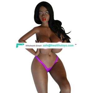 160cm Africa black silicone tpe sex doll with head
