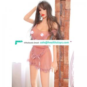 165cm 3D Sexual adult toy Realistic full size solid silicone sex doll with Metal skeleton for Men