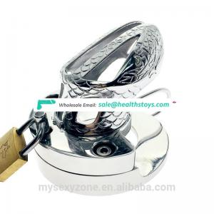 2- in-1 Metal Cock Cage Ball Stretcher Weighted heavy male chastity penis cage cock ring