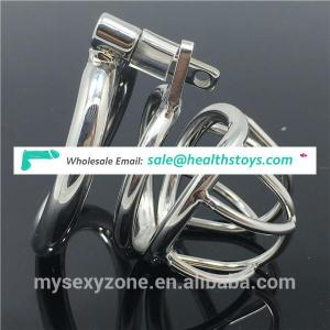 2017 New Male Chastity Cage Cock Penis Cage with Curve Cock Ring CBT BDSM product