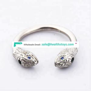 3 size adult stainless steel jewelry snake design male penis glans ring for delay