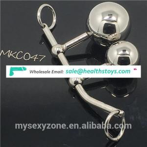 304 metal anal plug breast massager BDSM sex steel butt plug sex toys