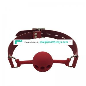 3holes plastic mouth ballgag head harness with lock