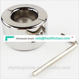 980G Metal Polish Penis Ring Men Fetish Cock Ring Testicle Stretcher Cuff Sex Toy