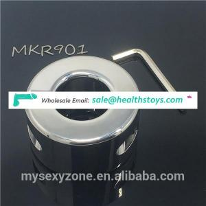 980g Weighted Stainless Steel Ball Stretcher Metal Scrotum Testicle Pendant Cock Ring Sex Products