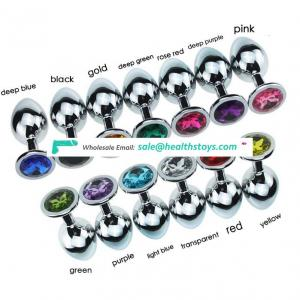 A set Crystal Stainless Steel Booty Beads Jewelled large butt plug for women/men