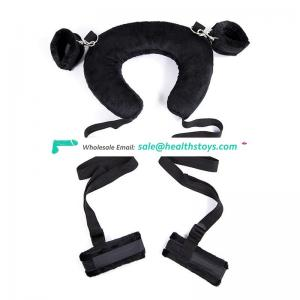 Adjustable Neck to wrist leg sex restraint bdsm bondage restrains sex toy