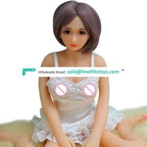 Adult 68cm 100cm flat chest girl mini plastic sex doll