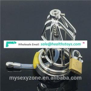 Adult Urethra Sex Toys Male Chastity Device Stainless Steel Short Penis Cock Cage