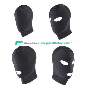 Adult elastic force leather Male sex mask bondage fetish hood