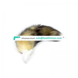 Adult toy colorful dog fox horse tail anal plug for women