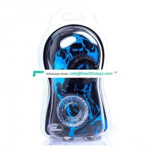 Adults products Penis Rings 2Pcs/Set Silicone Cock Rings Delay Ejaculation Tire Type Sex toys for Men