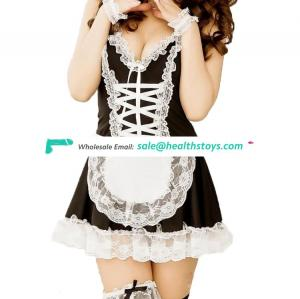 Amazon best sellers Cute Maid Costume Role play Uniform G-string Elastic Servant girl Cosplay Housemaid Lingerie