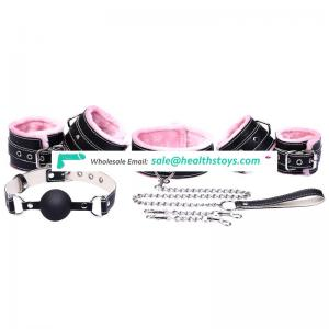 Assorted female sex ball gag handcuffs collars bdsm bondage restrains kit