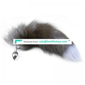 Beautiful Fox Tails Full Metal Anal Plug small size For Women