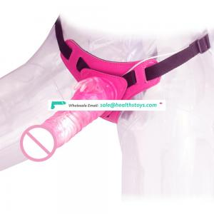 Best Selling 10 Speeds Rabbit Harness Dong for Lesbian