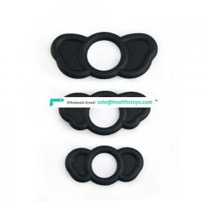 Black Elephant cock ring for penis pump
