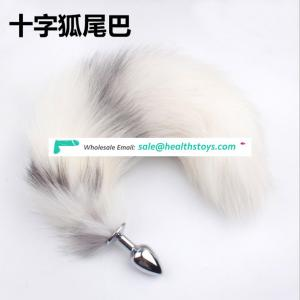 Body Wand Massager  Plug Anale Cosplay Toy Super Long Fox Tail Back Court Metal Fox Tail Anal Plug