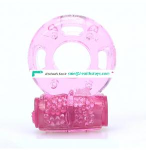 Butterfly vibration delay ring Silicone vibration ring wholesale custom adult products