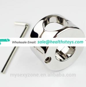 CBT Toys Stainless Steel Ball Cock Stretchers Scrotum Ring Locking Weight Testicle Stretcher