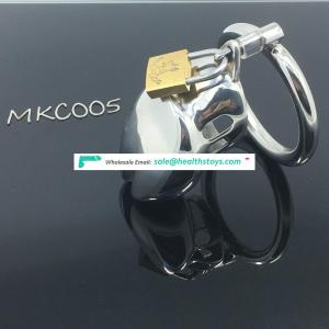Cock Lock Stainless Steel Lockable Penis Cage BDSM Chastity Penis Plug
