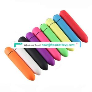 Colorful single 10frequency anal bullet vibrator sex toy for female bullet
