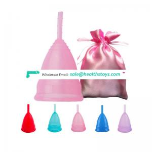 Custom made brand amazon hot selling silicone reusable menstrual cup lady cup menstrual for menstruation