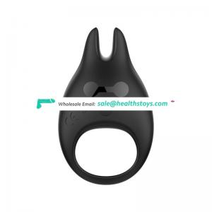 Devil design men cock ring unisex female breast vibrating penise sex delay ring