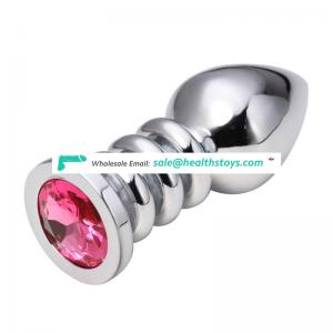 Diamond decoration big anal plug set bullet