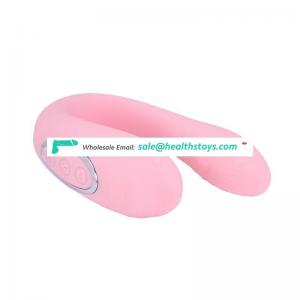 Double head Factory price two motor soft silicone U shape Hot sale vibrating sex eggs for adult
